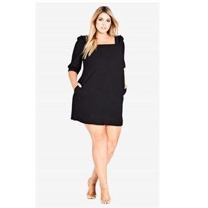 City Chic Black Darling Sleeve Dress